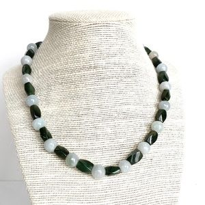 Jade and New Jade Bead Necklace